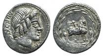 Ancient Coins - ROME REPUBLIC  Mn. Fonteius C.f., Rome, 85 BC. AR Denarius