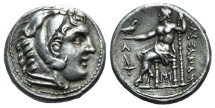 Ancient Coins - Kings of Macedon, Alexander III 'the Great' (336-323 BC). AR Tetradrachm. 'Amphipolis', c. 315-294 BC.