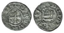 Ancient Coins - Principality of Achaea. Charles I de Anjou (1278-1285). BI Denier. Corinth.