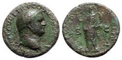Ancient Coins - Titus (Caesar, 69-79). Æ Dupondius - Lugdunum - R/ Felicitas