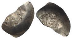 Ancient Coins - Manuel I Comnenus (1143-1180). EL Aspron Trachy - Thessalonica