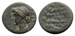 Ancient Coins - Julia Augusta (Livia, 14-29). Phrygia, Eumenea. Æ - Kleon Agapetos, magistrate
