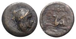 Ancient Coins - Troas, Assos, c. 400-241 BC. Æ 10mm. R/ Griffin