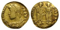Ancient Coins - Valens (364-378). GOLD Solidus. Consular issue. Nicomedia, January AD 368.