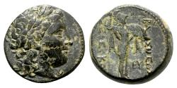Ancient Coins - Seleukid Kings, Seleukos I (312-281). Æ (19mm, 8.46g, 12h). Antioch on the Orontes.