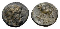 Ancient Coins - Pisidia, Komana, c. 1st century BC. Æ - Zeus / Lion