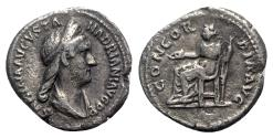 Ancient Coins - Sabina (Augusta, 128-136/7). AR Denarius - Rome - R/ Concordia