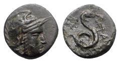 Ancient Coins - Kings of Pergamon, Philetairos (282-263 BC). Æ - Athena / Serpent