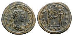 Ancient Coins - Probus (276-282). Radiate - Antioch - R/ Emperor with victory