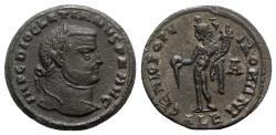 Ancient Coins - Diocletian (284-305). Æ Follis. Alexandria, c. AD 294.  R/ GENIUS
