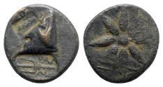 Ancient Coins - Pontos, Uncertain, c. 130-100 BC. Æ - Bowcase / Star