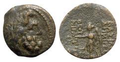 Ancient Coins - Seleukid Kings, Demetrios II (Second reign, 129-125 BC). Æ - Zeus / Nike