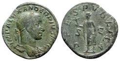 Ancient Coins - Severus Alexander (222-235). Æ Sestertius - R/ Spes