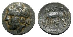 Ancient Coins - Troas, Alexandria, c. 261-227 BC. Æ - Apollo / Horse