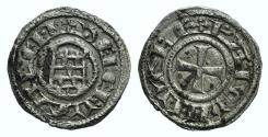 Ancient Coins - Crusaders, Latin Kingdom of Jerusalem. Baldwin III (1143-1163). BI Obol. 'Rough' coinage. RARE