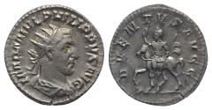 Ancient Coins - Philip I. AD 244-249. AR Antoninianus. Rome mint, 2nd officina. 4th emission, AD 245.