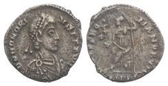 Ancient Coins - Honorius. AD 393-423. AR Siliqua. Mediolanum (Milan) mint. Struck AD 393-394.