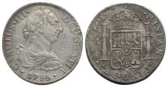 World Coins - Mexico, Carlos III (1759-1788). AR 8 Reales 1785 FM, Mexico City