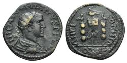 Ancient Coins - Philip I (244-249). Pisidia, Antioch. Æ 26mm. R/ Aquila between two signa.