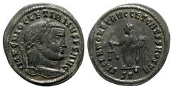 Ancient Coins - Diocletian (284-305). Æ Follis - Ticinum - R/ Moneta