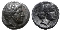 Ancient Coins - Thessaly, Phalanna, 3rd century BC. Æ Trichalkon, Nymph.