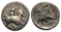 Ancient Coins - Southern Apulia, Tarentum, c. 365-355 BC. AR Nomos