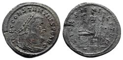 Ancient Coins - Constantius I (305-306). Æ Follis - Ticinum - R/ Fides
