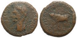 Ancient Coins - Augustus (27 BC-AD 14). Spain, Caesaraugusta. Æ As