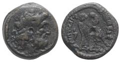 Ancient Coins - Ptolemaic Kings of Egypt, Ptolemy IX to Ptolemy XII (116-51 BC). Æ 21mm. Alexandreia(?). Diademed head of Zeus-Ammon r. R/ Two eagles