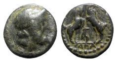 Ancient Coins - Pisidia, Sagalassos, c. 1st century BC. Æ - Zeus / Goats - RARE