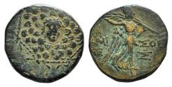 Ancient Coins - Pontos, Amisos, time of Mithradates VI, c. 85-65 BC. Æ 19mm. Aegis. R/ Nike