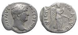 Ancient Coins - Hadrian (117-138). AR Denarius. Rome, 134-138.  R/ Victory