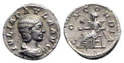 Ancient Coins - Julia Paula (Augusta, 219-220). AR Denarius - Rome - R/ Concordia
