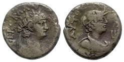 Ancient Coins - Nero (54-68). Egypt, Alexandria. BI Tetradrachm - R/ Bust of Alexandria