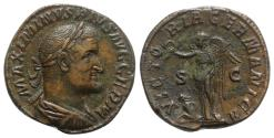 Ancient Coins - Maximinus I (235-238). Æ Sestertius - Rome - R/ Victory with captive