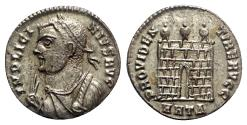 Ancient Coins - Licinius I (308-324). Æ Follis (18mm, 2.71g, 6h). Heraclea, AD 317. Fully Silvered.