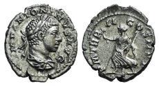 Ancient Coins - Elagabalus (218-222). AR Denarius. Rome, AD 219. R/ PAX