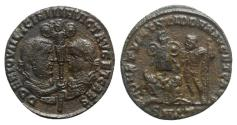 Ancient Coins - Licinius I with Licinius II, Caesar (308-324). Æ Follis. Antioch, 320-1. VERY RARE