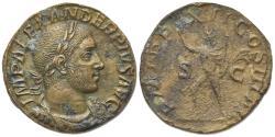 Ancient Coins - Severus Alexander (222-235). Æ Sestertius. Rome, AD 235. R/ SOL
