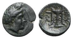 Ancient Coins - Mysia, Kyzikos, 3rd century BC. Æ - Kore Soteira / Tripod