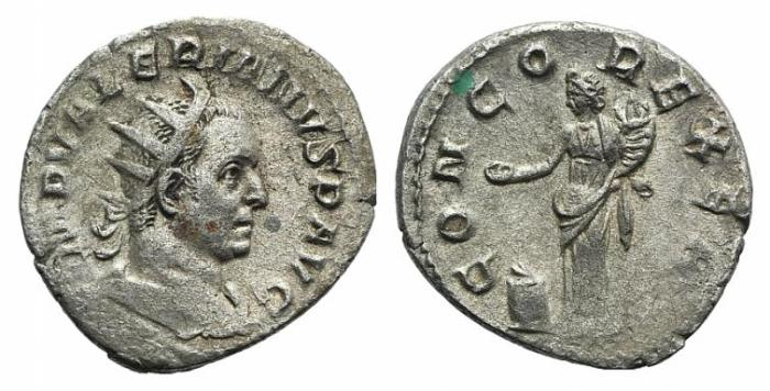 Ancient Coins - Valerian I (October 253 - c. June 260) AR Antoninianus / Concordia