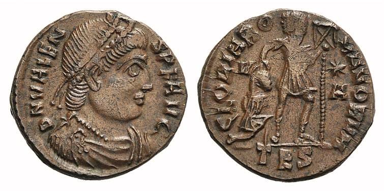 Ancient Coins - Valens (364-378). Æ 16mm. Thessalonica, 367-370.