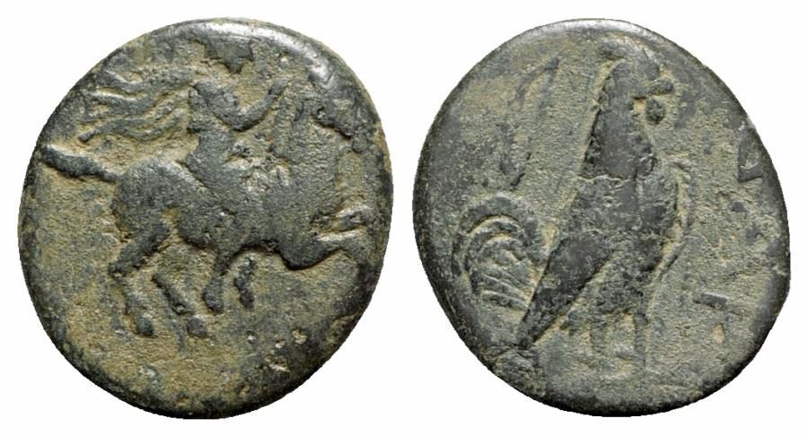 Ancient Coins - Troas, Dardanos, 4th-3rd century BC. Æ - R/ Bow symbol