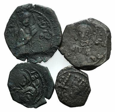Ancient Coins - Lot of four Æ Tetarteron