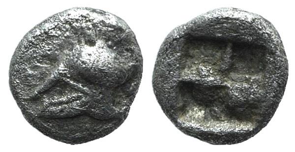 Ancient Coins - Ionia, Uncertain, c. 500 BC. AR Hemiobol  VERY RARE