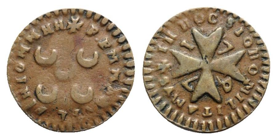 World Coins - Malta, Emmanuel Pinto (1741-1773). Æ Grano 1747