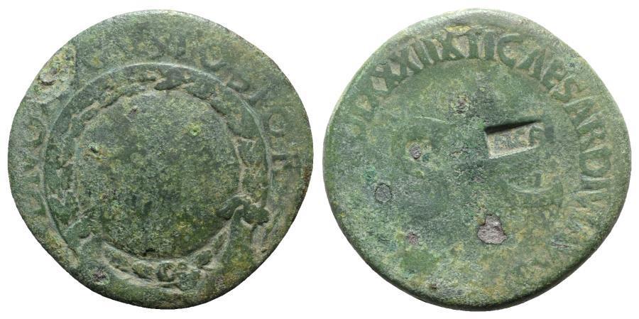 Ancient Coins - Divus Augustus (died AD 14). Æ Sestertius. Rome, 36-7. c/m: NCAPR