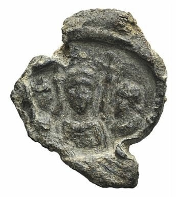 Ancient Coins - Egypt, Antinoöpolis area, c. 2nd-3rd century. PB Seal. Three draped busts