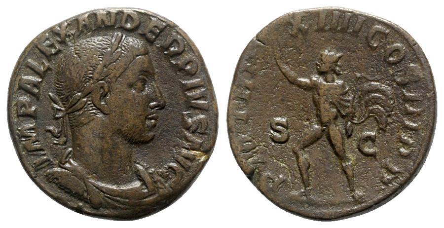 Ancient Coins - Severus Alexander (222-235). Æ Sestertius