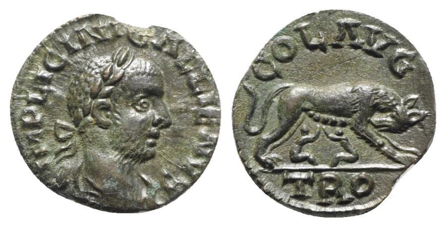 Ancient Coins - Gallienus (253-268). Troas, Alexandria. Æ